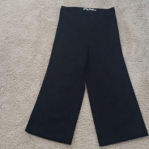 Cropped wide leg dress pants